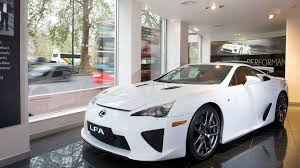 lexus lfa in the usa lexus lf a receives high demand in europe
