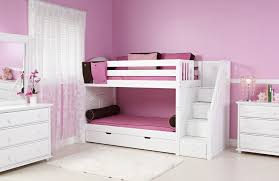 White Bunk Beds For Girls With Stairs  Smart Ideas Bunk Beds For - Girls white bunk beds