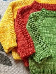 Easy To Knit Baby Sweater Made From A Free Pattern Knits I Love