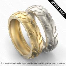 tire wedding ring five ring sizes 3d stl files tire wedding ring rws001000002 3d
