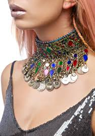 rose choker necklace images Rock n rose enora choker necklace dolls kill jpg