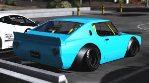 nissan skyline nissan skyline gt r c110 libertywalk add on replace gta5
