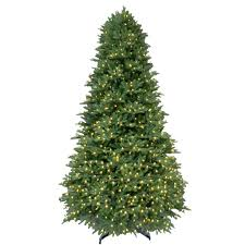 9 ft pre lit led balsam fir artificial tree with warm