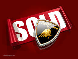 lamborghini logo stock illustration of a lamborghini logo and sold sticker