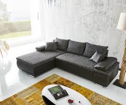 couch schwarz grau ecksofa cariba 275x180 schwarz grau ottomane variabel