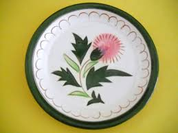stangl pottery fruit and flowers vintage 1950s stangl pottery thistle pattern trinket pin butter