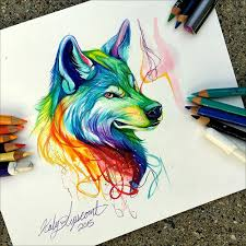 50 inspiring color pencil drawings of animals by katy lipscomb