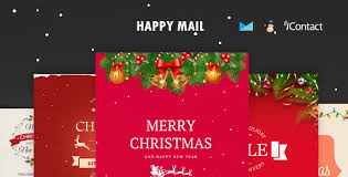 happy mail christmas email templates set online access by