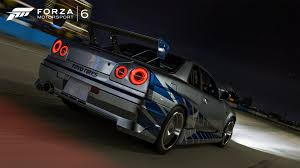 nissan skyline r34 wallpaper forza 6 nissan skyline gtr r34 fast and fourious edition review