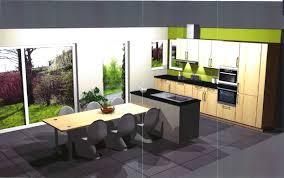 cuisine avec ilot central et table enchanteur cuisine ouverte avec ilot table et cuisine ouverte avec