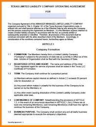 7 llc operating agreement sample packaging clerks
