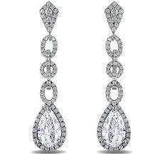 dangling diamond earrings diamond earrings pear shape diamond halo dangling earrings 2 96