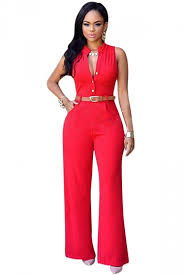 pink jumpsuit womens womens plain high waist single breasted belted wide leg jumpsuit