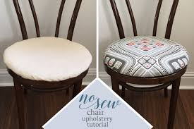 Upholstery Fabric For Chairs by No Sew Dining Chair Upholstery Tutorial Learn How To Re
