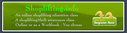 theft class online approval for the shoplifting class