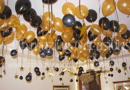 black and gold balloon table decorations themes inspiration