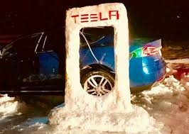 do tesla vehicles work in the snow cleantechnica