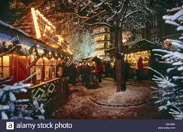 germany upper bavaria munich christmas market visitors evening