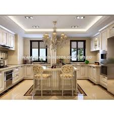 China Custommade PVC Membrane Wooden Kitchen Cabinet On Global - Kitchen cabinets made in china