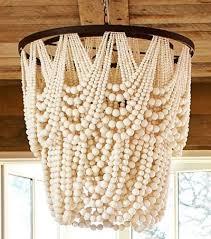 Tutorial On Diy Beaded Chandelier Amelia Indoor Outdoor Wood Bead Chandelier Lighting Ideas