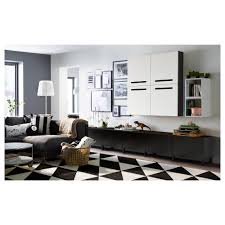 sillerup rug low pile black white 200x300 cm ikea