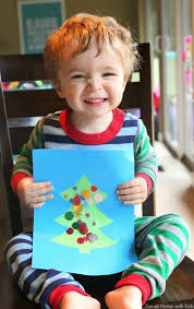 easy winter toddler no glue christmas tree craft tree crafts