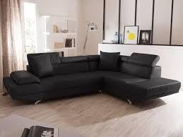 canapes angle cuir canapé d angle fixe en cuir 5 places avec têtières