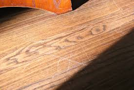 fix a wood floor scratch with a walnut blessed bles id