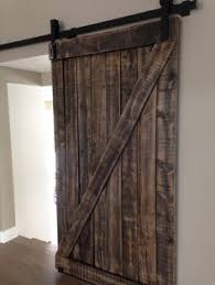 Z Barn Rustic White And Grey Double Cross Interior Barn Door From
