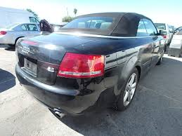 audi a4 2007 convertible 2007 audi a4 cabriolet 3 2 automatic black damaged left front for