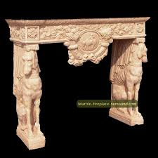 animal element marble fireplace surround from new home stone