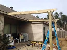 pergola attached to house crafts home