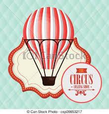 circus balloon balloon basket circus icon vector illustration eps10 eps 10 vector