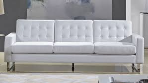 White Leather Tufted Sofa Best White Leather Tufted Sofa Modern Button Tufted Sofa