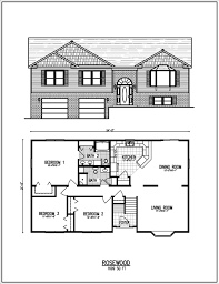 Free Ranch House Plans Raised Ranch Floor Plans Kintner Modular Homes Nepa Ranch Plans