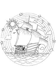 coloriage mandala bateau sur hugolescargot com