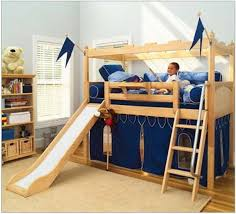 Childrens Bunk Bed With Slide Single Beds For Small Rooms Bunk Beds With Swirly Slide Boys Bunk