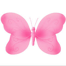 magenta nylon butterfly decoration for wall ceiling