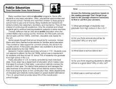 reading comprehension 4th grade taiga ecosystems reading comprehension worksheets comprehension