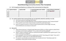 corrective action plan template free free business template
