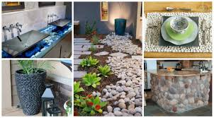 River Rock Bathroom Ideas 20 Creative Ideas Adding River Rocks For A Beautifully Decorated Home