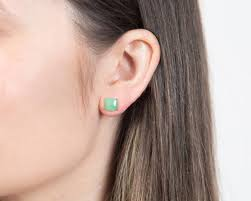 ear studs bonnie jade stud earrings by trace in 14k white gold