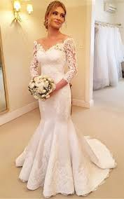 lace wedding dresses with sleeves cheap 3 4 sleeve lace wedding dress in style june bridals
