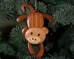 monkey ornament etsy
