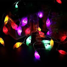 halloween ghost string lights 4 5m 40 leds halloween ghost string lights battery powered lights in