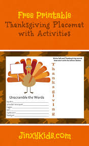 free printable thanksgiving placemat with activities jinxy