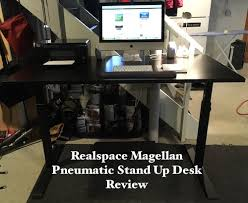 realspace magellan height adjustable desk realspace magellan pneumatic stand up adjustable desk review brad