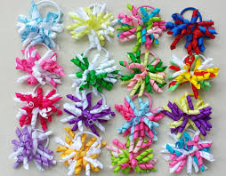 korker bows 16pcs 3 5 korker ponytail hair ties holders streamer corker hair
