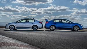 subaru wrx stock turbo 2015 subaru wrx vs 2015 subaru wrx sti comparion review