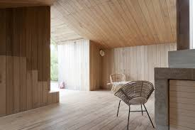poplar wood garden house designed by onix architecten interior